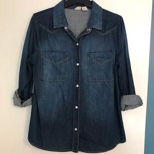 Mudd Blue Jean Button Down